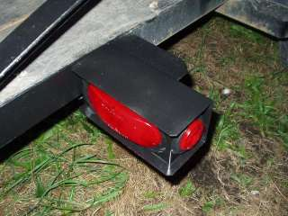 RED LED 6 oval Light Box kit Steel Trailer Truck Camper