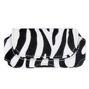 For Samsung Trill R520 Leather Pouch Case Cover Zebra V3HZ
