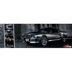 Mustang Black GT 500 Hot Rod Race Car Giant Door Poster 21
