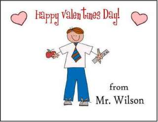 Personalized TEACHER VALENTINES DAY CARDS