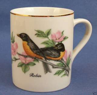 John James Audubon Robin Coffee Cup Mug Vintage 1985