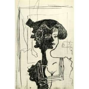 Braque Woman Shadow Portrait Modern French Art   Original Heliogravure