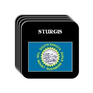 US State Flag   STURGIS, South Dakota (SD) Set of 4 Mini