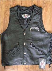 Harley Davidson Leather Vest Avenger 97135 07VM LARGE MINT