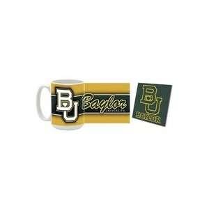 Baylor University Bears Mug and Coaster LOGO