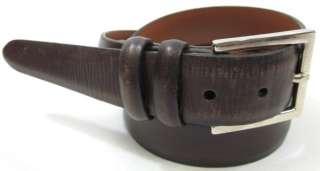 TRAFALGAR Mens Brown Leather Buckled Belt Size 36