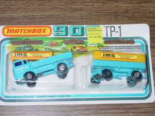 TP 1 TP1 MATCHBOX 900 SUPERFAST SERIES TRUCK TRAILER BLUE RARE HAULAGE