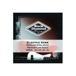 Black Diamond Stainless Steel Bass Guitar Strings Musical
