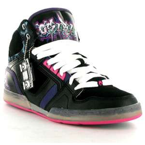 Osiris NYC Risk Ltd Mens Skate Shoe Black Sizes UK 8 11