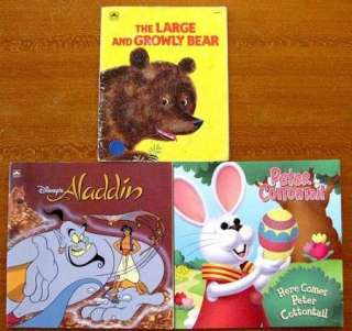 CHILDREN GOLDEN BOOKS SoftcoverTizzy, Mickey Mouse, Baby Rowlf, Mulan
