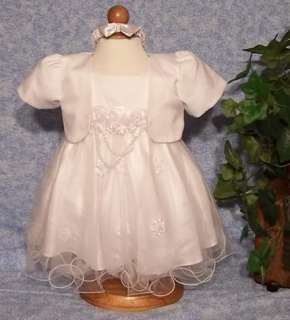 Baptism Gown Baby White Dress Baptismal Dress Organza