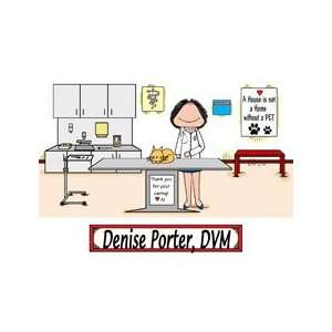Personalized Veterinarian with Cat Cartoon Gift