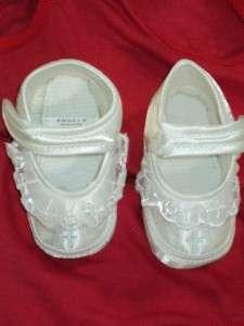 Baby Girls White Christening Baptism Shoes/225/ Size 2