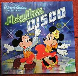 WALT DISNEY PRODUCTIONS MICKEY MOUSE DISCO LARGE ORIGINAL VINTAGE
