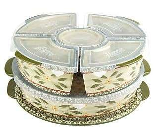 Temp tations Old World 3 qt. Round Lid it w/ 5 Mini Bakers   Confetti