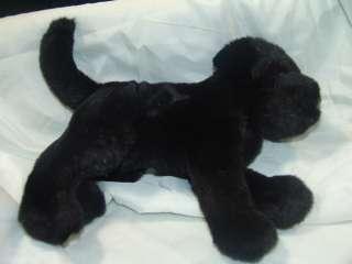 LIFELIKE DOUGLAS PLUSH BLACK LAB LABRADOR PUPPY DOG