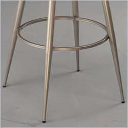 Hillsdale London 24 Swivel Metal Counter Champagne Bar stool