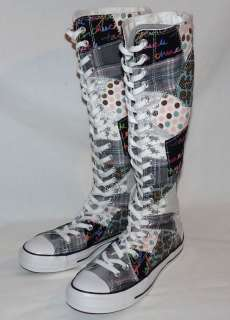 NEW Converse All Star Chuck Taylor XX Hi Knee High Patch/Patchwork