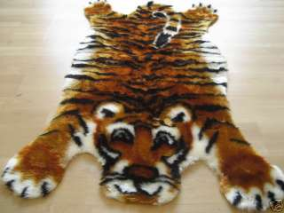 KIDS TIGER FAUX FUR JUNGLE SAFARI THEME RUG! 2x4 NEW!