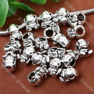 20pc Tibetan Silver Lovely Monkey Animal European Bead Fit Charm
