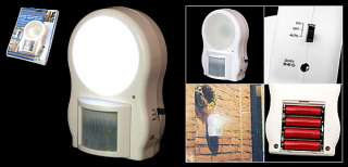 Battery Operated Infrared LED Night Motion Sensor Light White