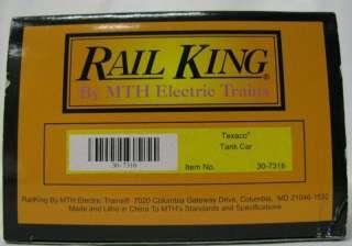 Rail King MTH Die Cast Train Texaco Tank Car 30 7316 MIB NRFB