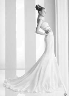 2012 New Custom Made Embellished Beach Wedding dress bridal gown Size