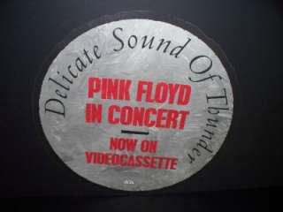 PINK FLOYD DELICATE SOUND OF THUNDER PROMO POSTER FLAT