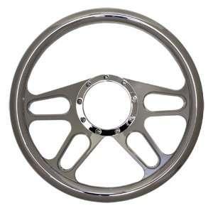 14 Chrome Billet Aluminum Steering Wheel   9 Hole Automotive
