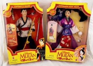 ACTION FIGURES DOLLS MATCHMAKER MAGIC MULAN & CAPTAIN LI SHANG