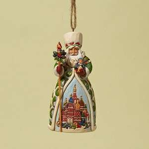JIM SHORE Heartwood Creek Christmas Ornament   RUSSIAN Santa