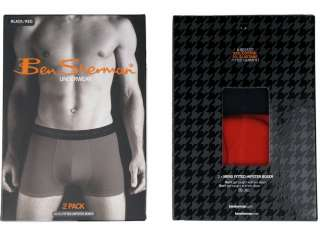 Mens Ben Sherman Boxer Shorts Fitted Hipster 2 Pack