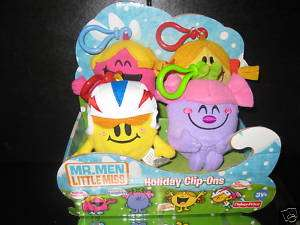 Mr. Men Little Miss Fisher Price Clip Ons Plush Figures