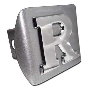 Rutgers University Scarlet Knights Brushed Silver with