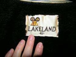 LAKELAND Mens GRAY Leather FIGHT CLUB Jacket MOD Coat EMO 42 R