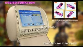 ERISIN ES999 9 CAR HEADREST DVD PLAYER PILLOW MONITOR 8 32 BIT GAME