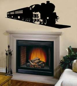 Vinyl Wall Art Decal Steam Locomotive Train Engine