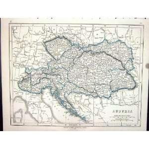 Lowry Antique Map 1853 Austria Vienna Bohemia Tyrol