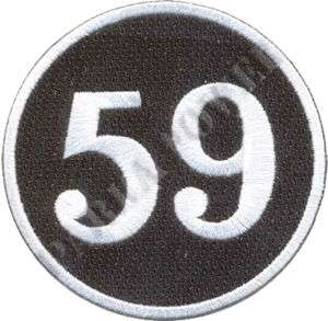 59 Club Patch, Fifty Nine Club, Cafe Racers, Motorcycle