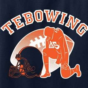 TEBOWING T shirt Tim Tebow Denver Broncos NFL Football Funny Cool