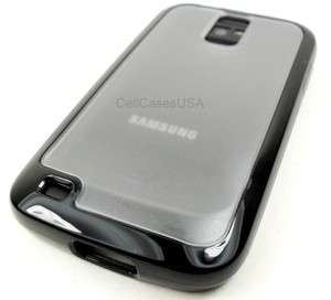 HERCULES T989 TMOBILE GALAXY S2 BLACK CLEAR TPU SOFT SKIN COVER CASE