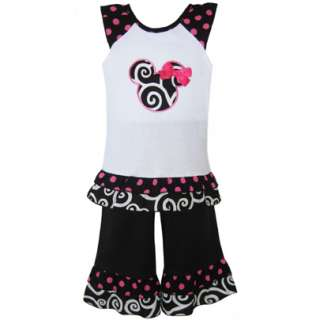 AnnLoren Girls Boutique Minnie Mouse Outfit Clothing