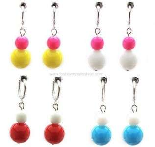 Pair Spring Clip On Hoops Earrings ½ or 13MM