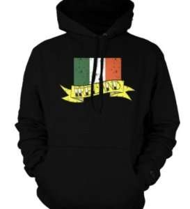 Ireland Irish Banner Flag Tattoo Sweatshirt Hoodie