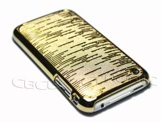 New Black Gold Color shiny hard case cover for Iphone 3g 3gs