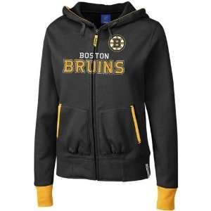 Bruins Ladies Black Chant Full Zip Hoody Sweatshirt