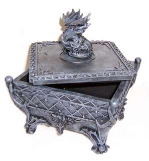 Black Medieval Dragon Jewlery / Trinket Box NEW