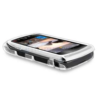For BlackBerry Torch 9800 9810 Clear Crystal Snap On Hard Case Cover