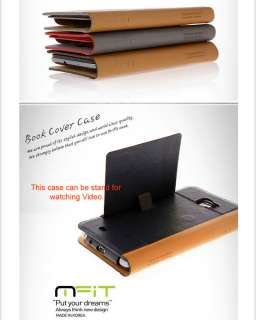 MFIT Synthetic Leather Book Cover Case Samsung Galaxy Note GT N7000