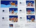 Follow Star Nativity Advent Calendar Ornaments fabric panel new